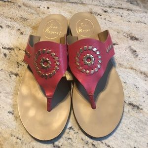 💕Jack Rogers. Pink and gold Sandals.